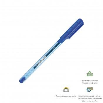 Ручка шариковая kores к2 0.7мм, резин.упор, треуг.корп, стержень синий
