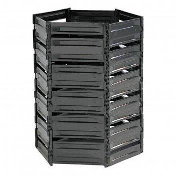 Компостер пластиковый, 1200 л, 125 x 105 x 140 см, чёрный