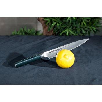 Нож кухонный поварской универсальный samura микарта mo-v sm-
