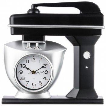 Часы настенные кварцевые chef kitchen 39 см цвет:черный (кор=6шт.)