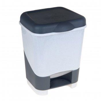 Контейнер для мусора с педалью 20 л, цвет микс