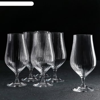 Набор бокалов для пива 540 мл тулипа, 6 шт