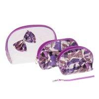 Набор косметичек 3в1 абстракция, 1 отдел, цвет фиолетовый