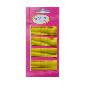 Невидимки dewal beauty желтые 50 мм (40 шт) волна