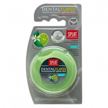 Зубная нить professional dental floss, объемная с ароматом бергамота и лай