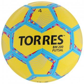 Мяч футзальный torres futsal bm 200, размер 4, 32 панели, tpu, 4 подкладоч
