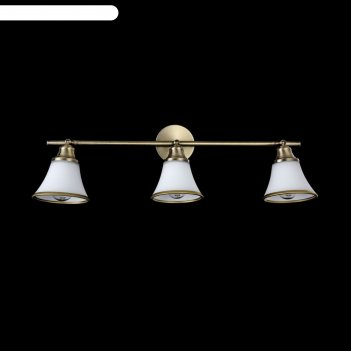 Светильник jasinta 3x40вт e14 латунь 21x58x17см