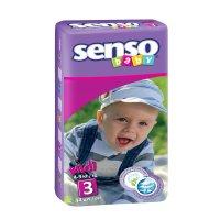 Подгузники senso baby, midi 3 (4-9 кг) 44 шт.