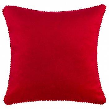 Подушка декоративная фьюжен,40х40см,красный,100%пэ