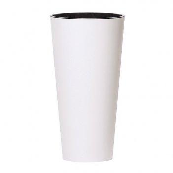 Кашпо для цветов prosperplast tubus slim 27+15л, белый