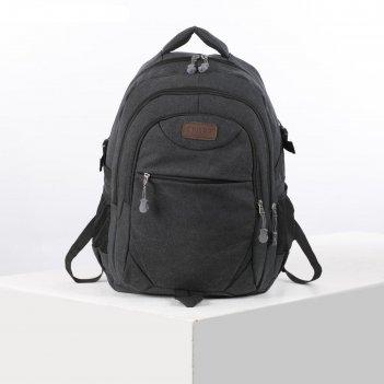 Рюкзак школьный, отдел на молнии, 3 наружных кармана, 2 боковых кармана, ц