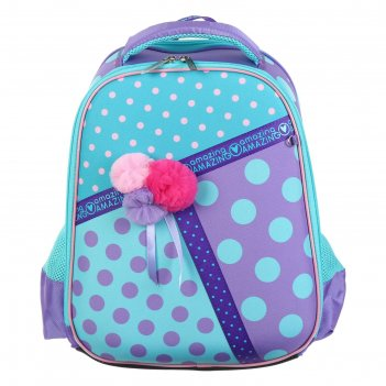 Рюкзак каркасный hatber ergonomic plus 38 х 29 х 6, для девочки amazing, б