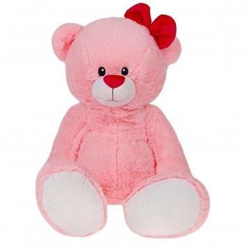 Мягкая игрушка мишка лапа, цвет розовый, 103 см