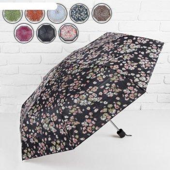 Зонт механический цветы, цвета микс