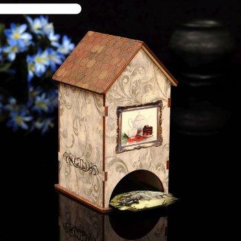 Чайный домик натюрморт с уф-печатью, 8,5х9,5х16см
