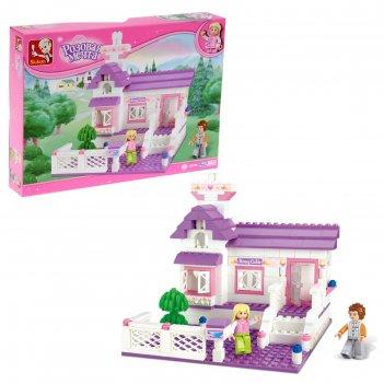 Конструктор розовая мечта домик, 193 детали