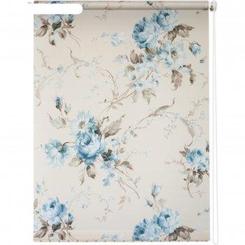 Рулонная штора «розарий», 120х175 см, цвет белый