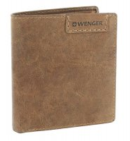 Портмоне wenger wildspitz, коричневый, кожа нубук, 9,5×2×10,5 см