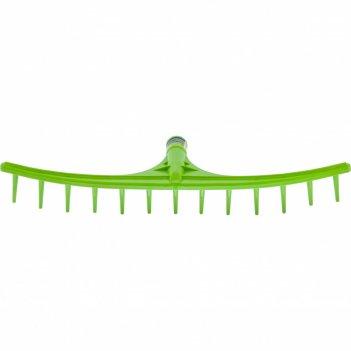 Грабли пластиковые, 655 мм, 13 круглых зубьев, сенные, без черенка, россия