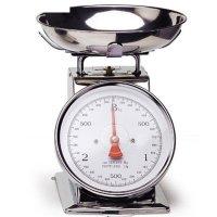 Механические кухонные весы 22,3х20,8х25,5 см, со стальной чашей