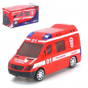 Автоград машина пожарные, световые и звуковые эффекты, работает от батарее