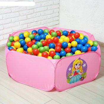 Палатка детская, сухой бассейн для шариков милая принцесса