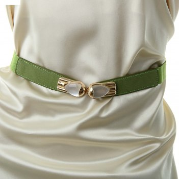 Ремень женский лепесток, цвет светло-зелёный