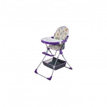 Стульчик для кормления polini kids 252 «совы», цвет фиолетовый