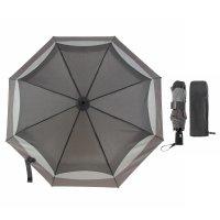 Зонт автоматический «волны», 3 сложения, 8 спиц, r = 50 см, цвет серый