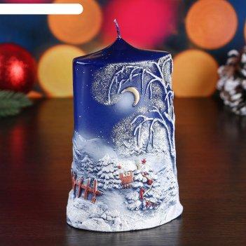 Свеча пеньковая новогодняя, большая, 7x10x16 см