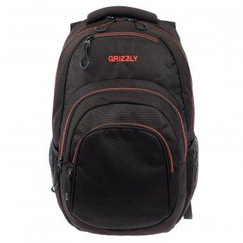 Рюкзак молодежный эргоном.спинка grizzly rq-003-3 48*33*21 чёрный//красный
