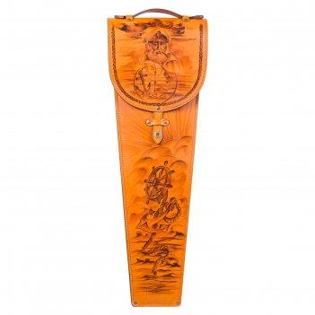Шампуры подарочные капитан 6 шт. в колчане из натуральной кожи