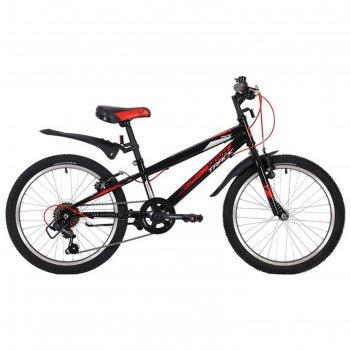 Велосипед 20 novatrack racer, 2020, 6 ск., цвет чёрный