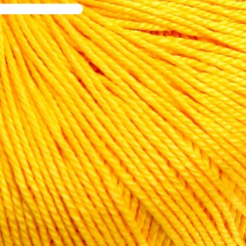 Пряжа успешная 100%мерсеризованный хлопок 220м/50гр (80-канарейка)
