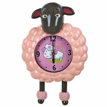 Часы настенные (с маятником) овечка 26,5*9*43см. (5видов) (час