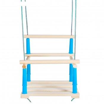 Качель подвесная, деревянная 33x22 см, микс