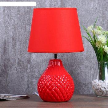 Настольная лампа елена 1x40вт е14 красный