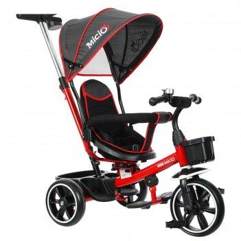 Велосипед трехколесный micio veloce, колеса eva 10/8, цвет красный