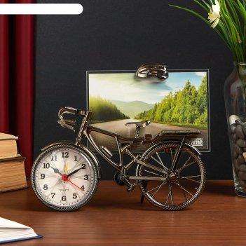 Часы настольные с фоторамкой велосипед