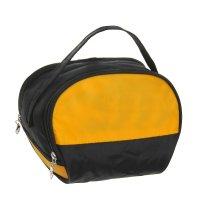 Косметичка-сумочка два цвета, 1 отдел на молнии, цвет чёрно-жёлтый