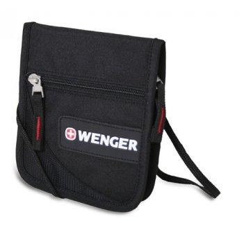 Кошелёк на шею wenger «neck wallet» цв. черн./красн., полиэстер 600d, 10х3
