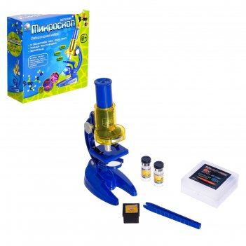 Микроскоп детский: 3 объектива, фокусировка, зеркальце