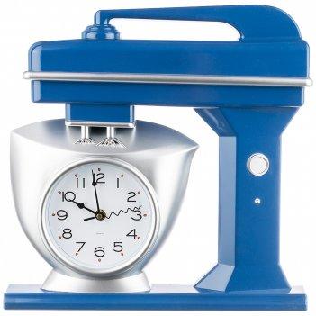 Часы настенные кварцевые chef kitchen 39 см цвет:синий (кор=6шт.)