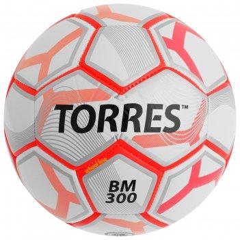 Мяч футбольный torres bm 300, размер 3, tpu, машинная сшивка, 28 панелей,