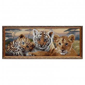 Гобеленовая картина дикие кошки