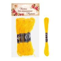 Нитки для вышивания мулине 8 м №444, цвет желтый
