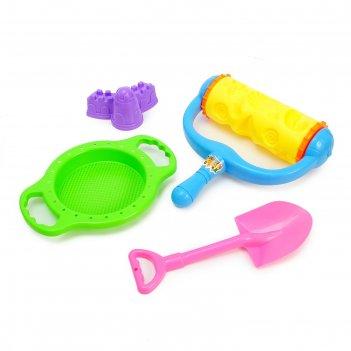 Песочный набор пляжные игры, 4 предмета
