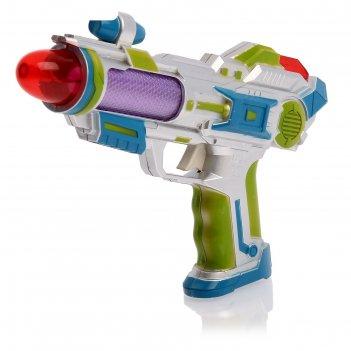 Пистолет «космо», световые и звуковые эффекты, работает от батареек, цвета