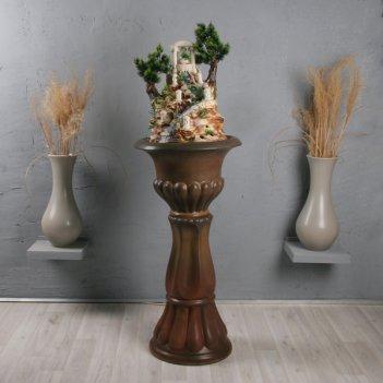 Напольный фонтан «миф классика коричневый бархат» коричневый бархат
