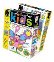 Аппликация для малышей. крылатая барышня (бабочка)